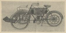 Y7981 Tricycle Tandem a moteur BRUNEAU - Pubblicità d'epoca - 1904 Old advert
