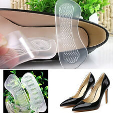1Pair Silicone Gel Heel Cushion Foot Care Shoe Insert Pad Insole For High Heel