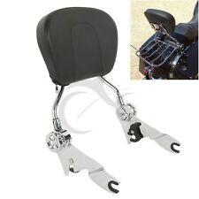Chrome Sissy Bar Passenger Backrest W/ Pad For Harley Touring Models 2009-Up