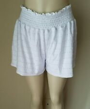 NWT HIP Nordstrom Women's Knit Rouched Eyelet White Shorts XL