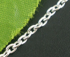 10M Silver Plated Cable Chains Findings 3x2mm