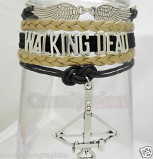 The Walking Dead Infinity Bracelet Layer Wrap Daryl Dixon Angel Wing Crossbow