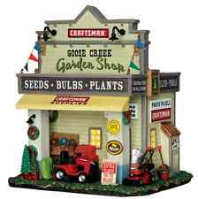 New Lemax Village Lighted Garden Shop Accessory Figurine House Set christmas