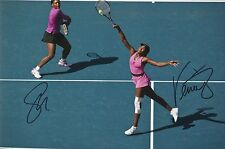 Tennis Serena Williams Venus Williams Original Hand Signed Photo 12x8 With COA