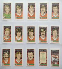 LIVERPOOL FC 1977 EUROPEAN CUP WINNERS COMPLETE CARD SET