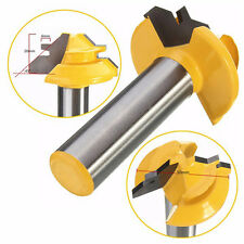 "1Pcs Small Lock Miter Router Bit Anti-kickback  45° - 1/2"" Stock - 1/2"" Shank"