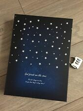 New Blue Night Vintage Retro Paper Box Blank Journal Diary Note Book With Lock