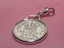 1951 65th Birthday lucky sixpence coin bracelet charm ready to hang 1951 cinch