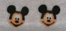 Mickey Mouse Edible Cupcake Toppers,Molded Sugar,Black,DecoPac,8 ct.Decorations