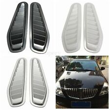 2pc Car Decorative Air Flow Intake Scoop Bonnet Side Fender Vent Cover Hood Roof