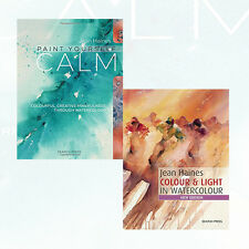 Paint Yourself Calm Jean Haines 2 Books Set Watercolour Collection New Paperback