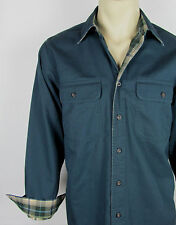 NWT Mens LL Bean Flannel lined canvas shirt long sleeve – Dark Blue – Size S