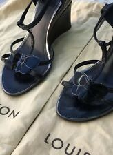 Louis Vuitton Shoes Black Wedge size 39/6 Supplied With Dust Bags And Box