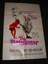 The Babysitter folded movie poster - Sexploitation Adult Film Rated X 1969