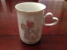 Precious Moments Love Lifted Me 1980 Enesco Vintage Collectible Cup Mug Adorable