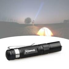 Mini CREE LED Q5 1500 Lumen Lamp Aluminum Flashlight Torch Straight AAA Black MT