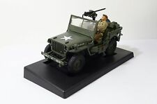 21st Century WWII US Army Willys Jeep w/Figure 1:18 Scale Plastic Model Used