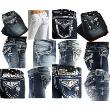 10 pairs MISS ME JEANS **NEW STYLES** PERFECT RHINESTONE Denim Bling Jean Sz: 25