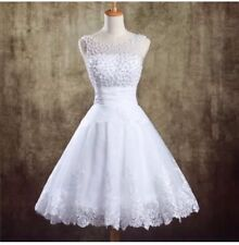 New White/Ivo Pearls Wedding Dress Prom Ball Bridal Gown Size 6-16 UK