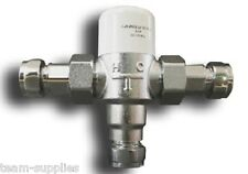Douche Thermostatic Hot Water Blending Mixing Valve 15mm TMV Shower Tap Basin