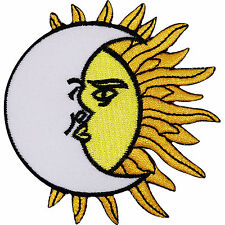 Moon Sun Lunar Tantra Tattoo Embroidered Iron On Shirt Jeans Bag Badge Patch