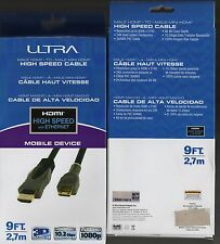 *NEW 9 FT Ultra HDMI Mobile Device High-Speed Cable Ethernet 3D Compatible 10.2