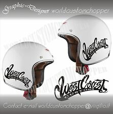 1 ADESIVO STICKERS WEST COAST CUSTOMS HARLEY DAVIDSON SERBATOIO-CASCO MOTO