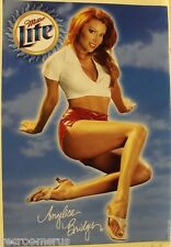 Miller LITE poster sexy Angelica Bridges pose miller lite beer bar hot women