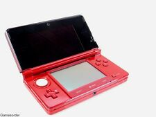 ORIGINAL NINTENDO 3DS / 3 DS KONSOLE - ROT / RED METALLIC - R TASTE defekt #891