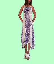 Free Gift With Purchase: Bohemian Style with this Blue Paisley Print Maxi Dress
