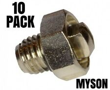 GENUINE BLEED SCREW AIR /  VALVE VENT NIPPLE  'MYSON' RADIATORS  2003 - 10 PACK