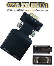 1080P VGA to HDMI Video Converter Audio Adapter for PC Computer to HDTV TV #7508