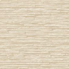 NEW MURIVA BLUFF SLATE PATTERN STONE BRICK CREAM VINYL EMBOSSED WALLPAPER J27607
