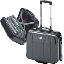 NOTEBOOKTROLLEY BUSINESSTROLLEY  PILOTENTROLLEY mit Notebookfach   POLYCARBONAT