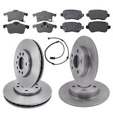 Front & Rear Brake Kit Discs & Pads Including Wear Sensor Vauxhall Astra H Mk5