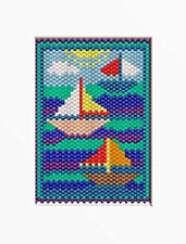 Summer Sail Boats~Beaded Banner Pattern