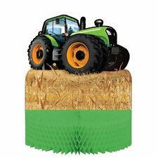 Children's Birthday Party - Tractor Time Table Honeycomb Centerpiece Decoration