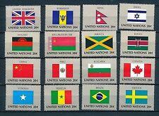 UNO New York 16 Flaggen der VN 1983  postfrisch komplett 422 - 432
