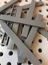 Lego Dark Gray 1x8 Smooth Finishing Flat Tiles Modular Buildings Floor 12 Pcs