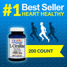 L Citrulline 1000 mg 200Caps  Potency, Quality  Freshest!  FDA Approved Facility