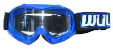 Wulf  Kids Childrens Abstract Cub MX Motorcross Goggle Blue One Size BC33926 - T