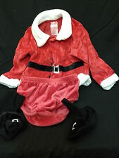 Santa Claus Outfit Baby Halloween Holiday Costume Jacket Boots Panties Photos