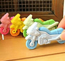 FD3867 Removable Motorcycle Eraser Rubber Pencil Stationery Child Gift Toy 1pc ♫