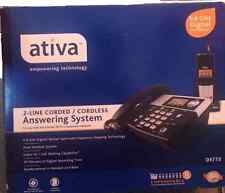 Ativa D5772 2 Line 5.8 GHz Corded/Cordless Answering CID Phone System TL86109