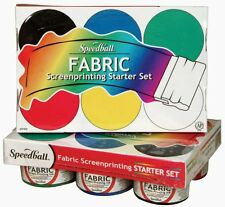 Speedball Fabric Screenprinting Ink Starter Set, New, Free Shipping