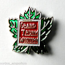 GTR RAILWAY GRAND TRUNK WESTERN RAILROAD PIN BADGE 1 INCH