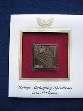 2007 Mahogany Speedboat 1915 Hutchinson Replica FDC 22kt Gold Golden Cover Stamp