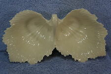 """Lenox Ivory Duel Leaf Nut or Candy or Divided Snack Dish-10 3/4"""" x 5 1/2"""""""