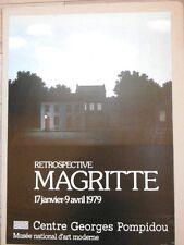 Affiche originale 79 MAGRITTE Centre Pompidou Surrealisme