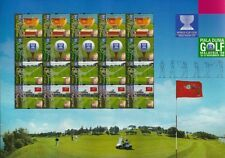 World Cup Golf Malaysia 1999 Sports Games Golfer Championship (stamp sheet) MNH